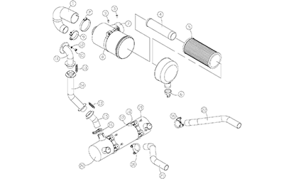 Diagram 14-A Intake and Exhaust Assemblies