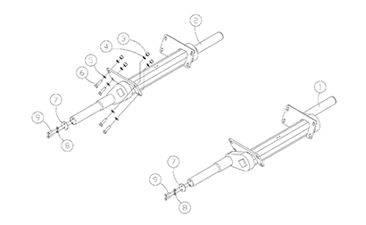 Diagram 16-A Torsion Axle Assembly