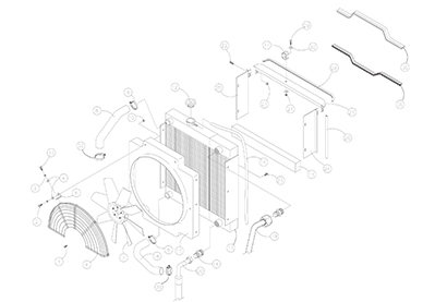 Diagram 2-2A Radiator and Oil Cooler Assembly