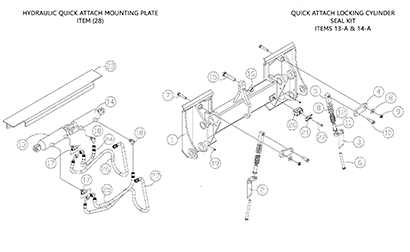Diagram 24-A Quick Attach Assembly - Hydraulic - Optional