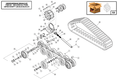 Diagram 5-2A Undercarriage Assembly - Right Hand