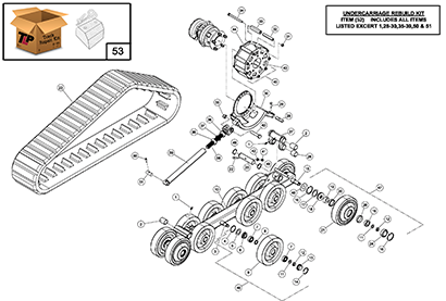 Diagram 5-3A Undercarriage Assembly - Left Hand
