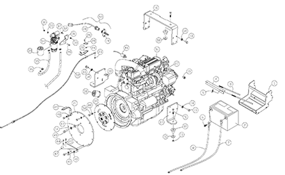 Diagram 13-A Engine Assembly