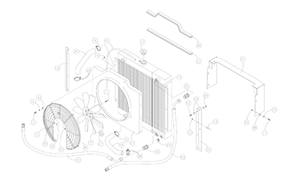 Diagram 2-2A Radiator and Oil Cooler