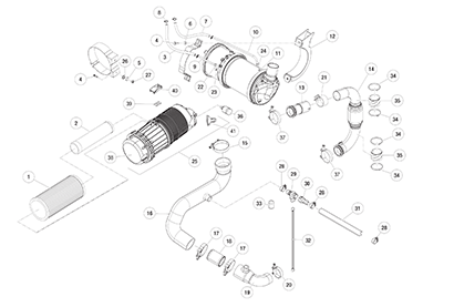 Diagram 2-3A Intake and Exhaust