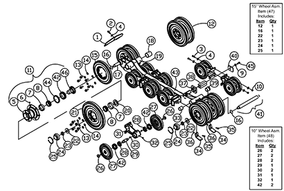 Diagram 17-A Undercarriage Assembly - Right Hand