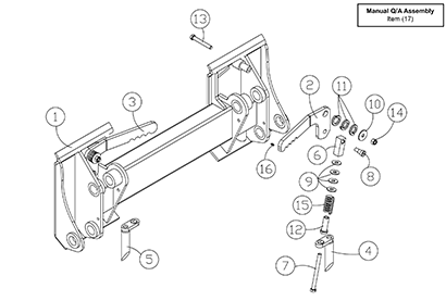 Diagram 23-A Quick Attach Assembly - Mounting Plate