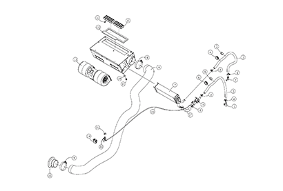 Diagram 26-A Cab Heater - Optional