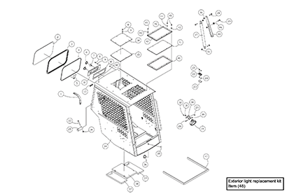 Diagram 01-A Cab ROPS Assembly - Open