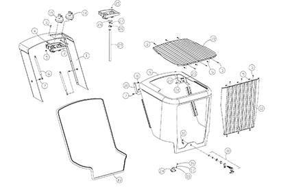 Diagram 06-B Hood Assembly