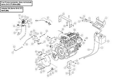 Diagram 13-B Engine Assembly