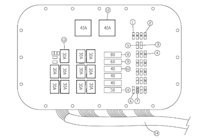 Diagram 15-A Fuse Panel Assembly