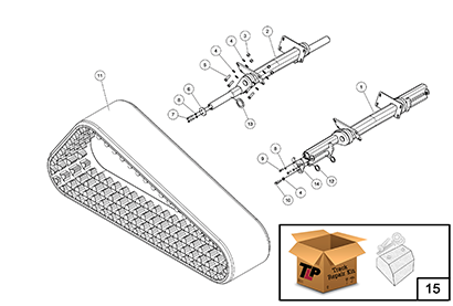 Diagram 16-B Torsion Axle Assembly