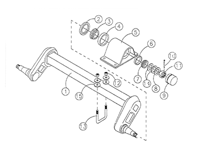 Diagram 24-A Axle and Hub