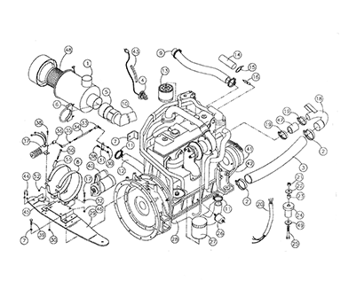 Diagram 16-A Turbo Engine Assembly