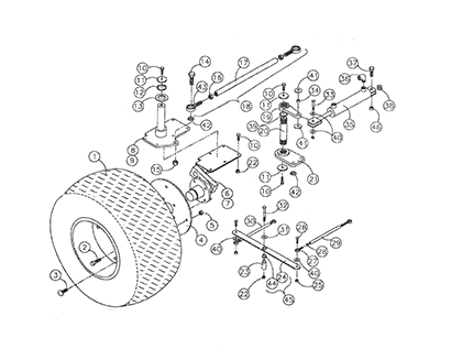 Diagram 23-A Steering Assembly