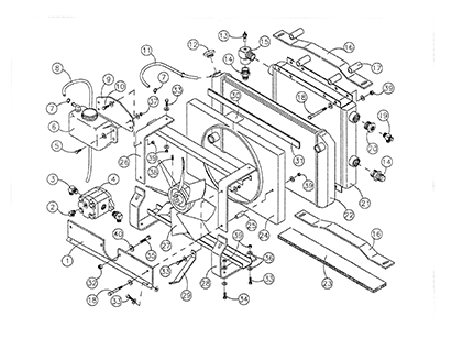Diagram 11-A Radiator and Oil Cooler