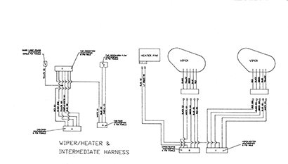 Diagram E3 Wiper Heater Intermediate Harness