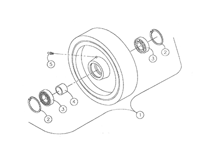 Diagram 28-A Wheel - Idler Assembly
