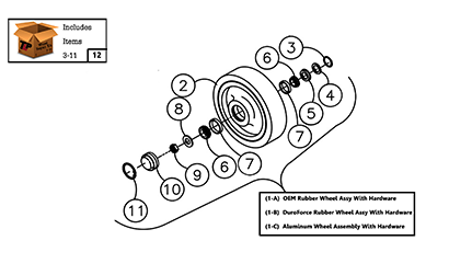 Diagram 05-A 10 Inch Mid Bogie Wheel Assembly