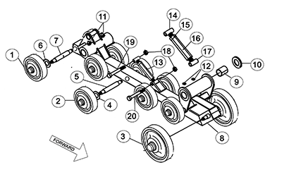 Diagram 02-A Undercarriage Frame