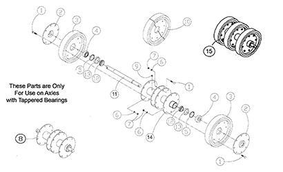 Diagram 08-B 14 Inch Idler - Tapered Bearings