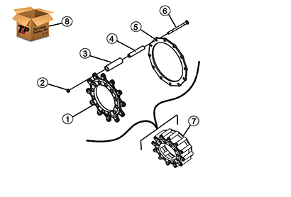 Diagram 04-B Drive Sprocket Assembly - Bolt On Wheels
