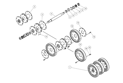 Diagram 08-C 14 Inch Idler - Metal Face Seal