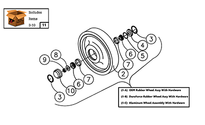 Diagram 05-A 10 Inch Rear Wheel Assembly