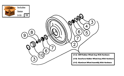 Diagram 07-A 14 Inch Front Idler Wheel Assembly