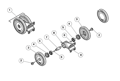 Diagram 05-A 10 Inch Bogie Wheel Assembly