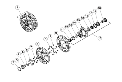 Diagram 06-A 15 Inch Idler Wheel Assembly