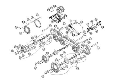 Diagram 5-2B Undercarriage Assembly - Right Hand - Aus and NZ
