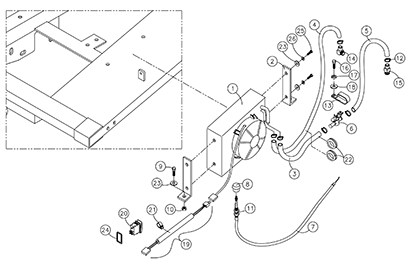 Diagram 7-3A Cab Heater Assembly