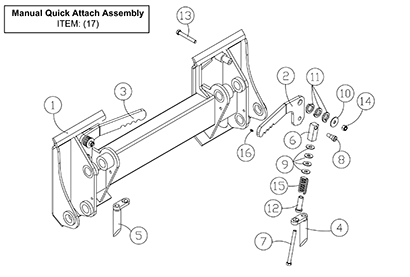 Diagram 8-1A Manual Quick Attach Assembly