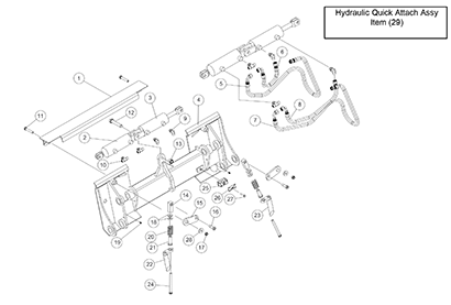 Diagram 8-2A Hydraulic Quick Attach Assembly - Optional