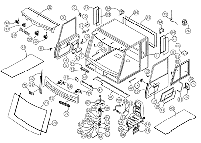 Diagram 01-A Cab Assembly