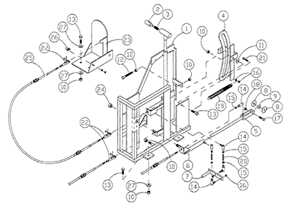Diagram 03-A Shift Linkage Assembly