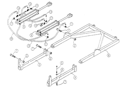Diagram 28-A Groomer Lift Assembly