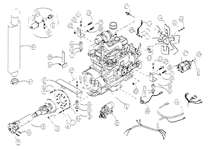 Diagram 14-A DX Engine Assembly