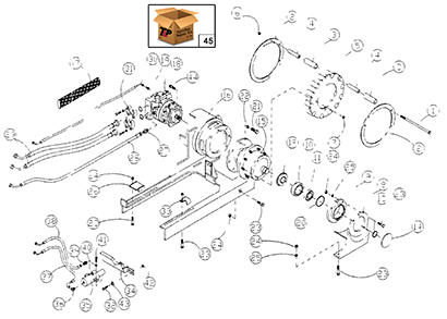 Diagram 19-A Left Side Drive Assembly