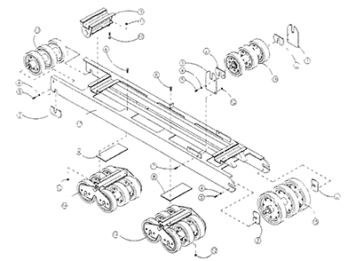Diagram 20-A Right Side Undercarriage Assembly