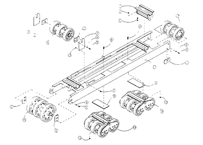 Diagram 21-A Left Side Undercarriage Assembly