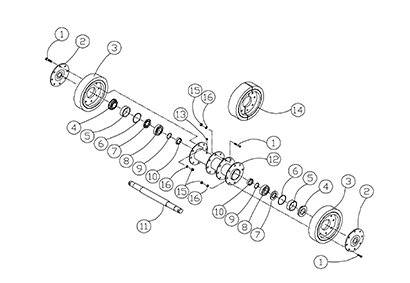 Diagram 23-A 10 Inch Bogie Axle - Original