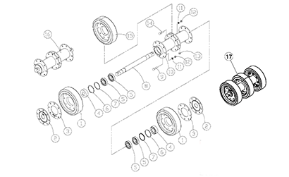 Diagram 23-C 10 Inch Bogie Axle - Double Bearing