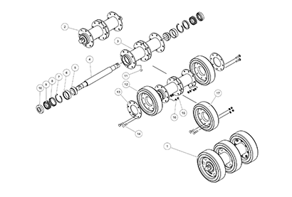 Diagram 23-D 10 Inch Bogie Axle - Metal Face Seal