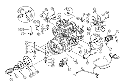 Diagram 14-A 4045 and 4045T Engine Assembly