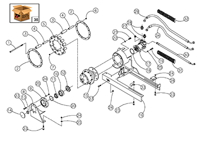 Diagram 20-A Drive Assembly - Left Hand