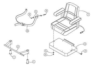 Diagram 01-A Seat Assembly