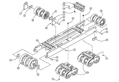 Diagram 22-A Undercarriage Assembly - Right Hand